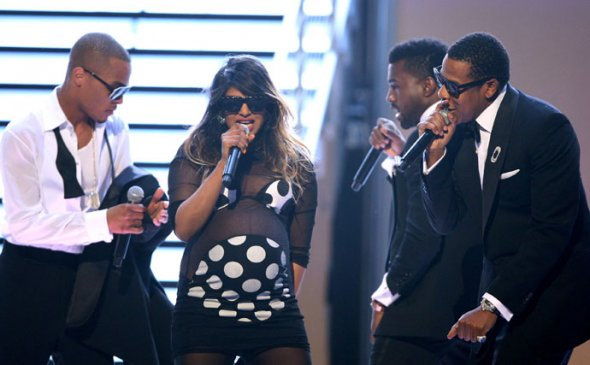 MIA at the Grammy's with T.I., Kanye, and Jay-Z